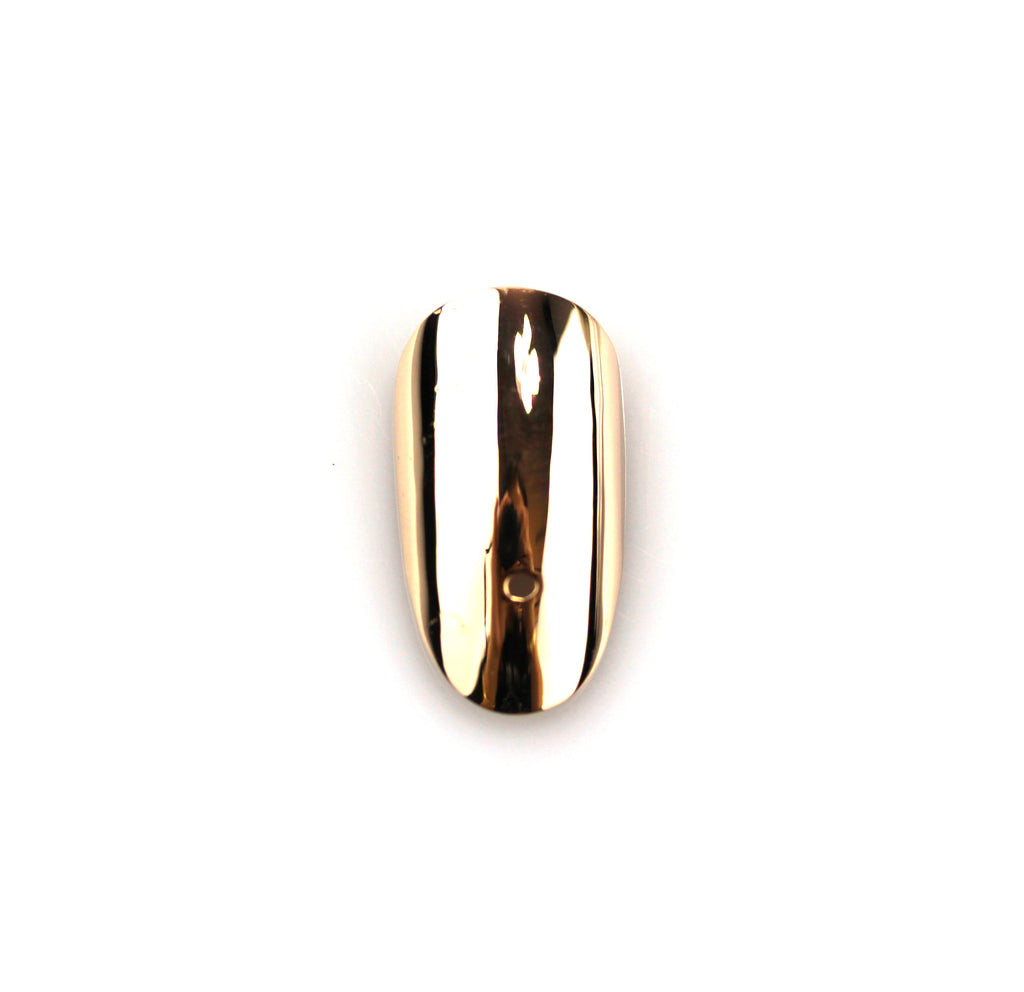 Round Yellow Gold Nail with Hole