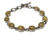 Rutilated Quartz Bracelet in Sterling Silver