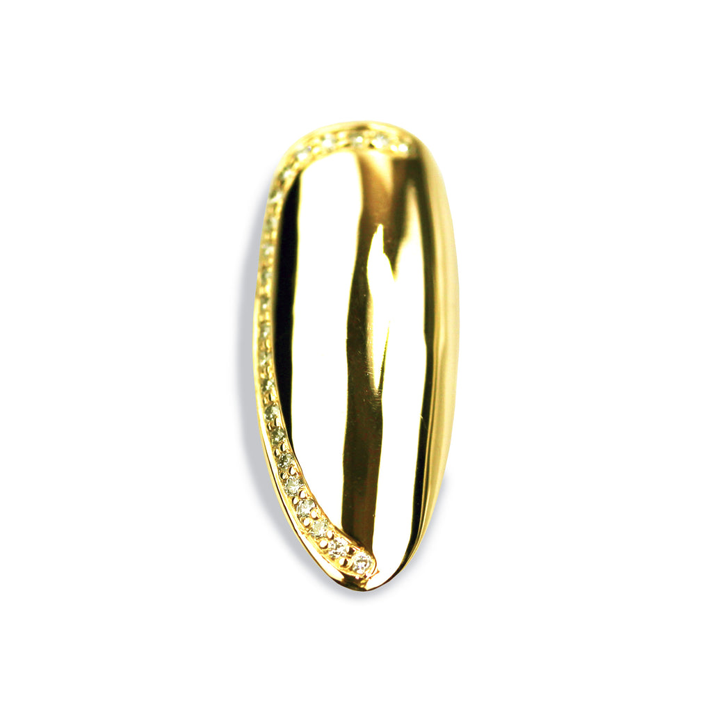 Sadie Long Pointy Diamond Yellow Gold Nail