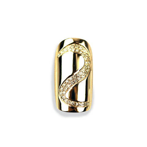 Salma Round Diamond Yellow Gold Nail