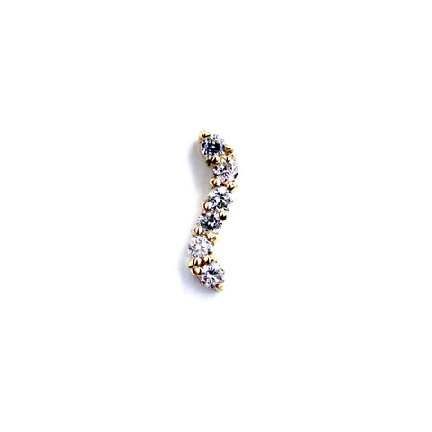 Sasha Diamond Yellow Gold Nail Stud