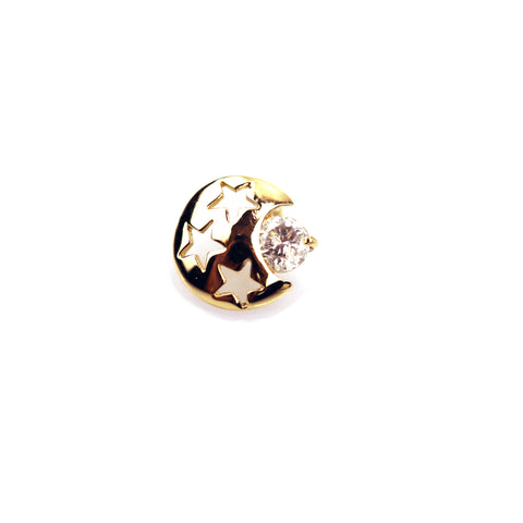 Savannah Diamond Yellow Gold Nail Stud