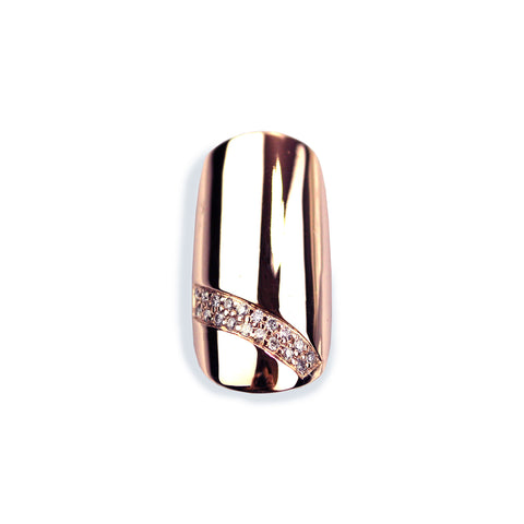 Sina Round Diamond Rose Gold Nail