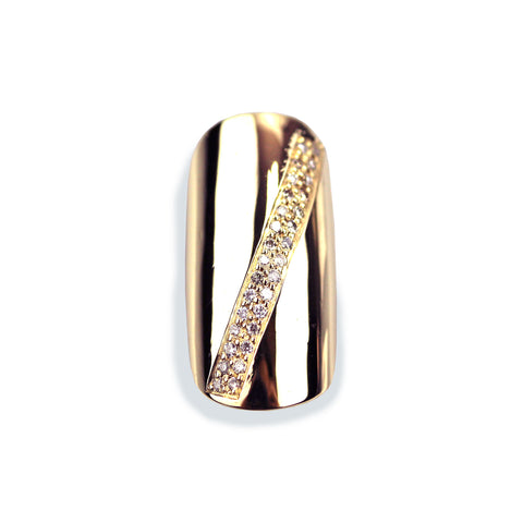Sloan Round Diamond Rose Gold Nail