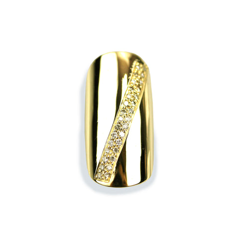 Sloan Round Diamond Yellow Gold Nail