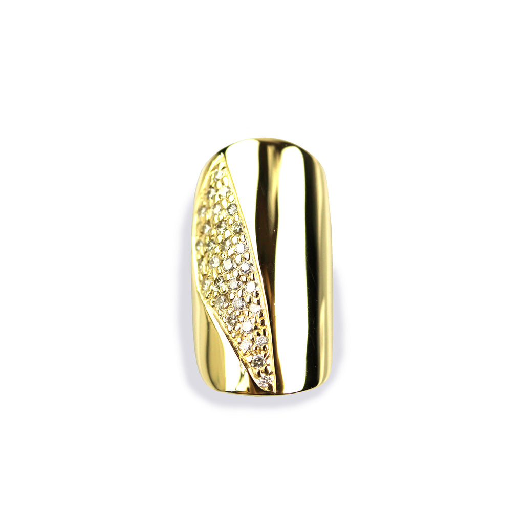 Soraya Round Diamond Yellow Gold Nail