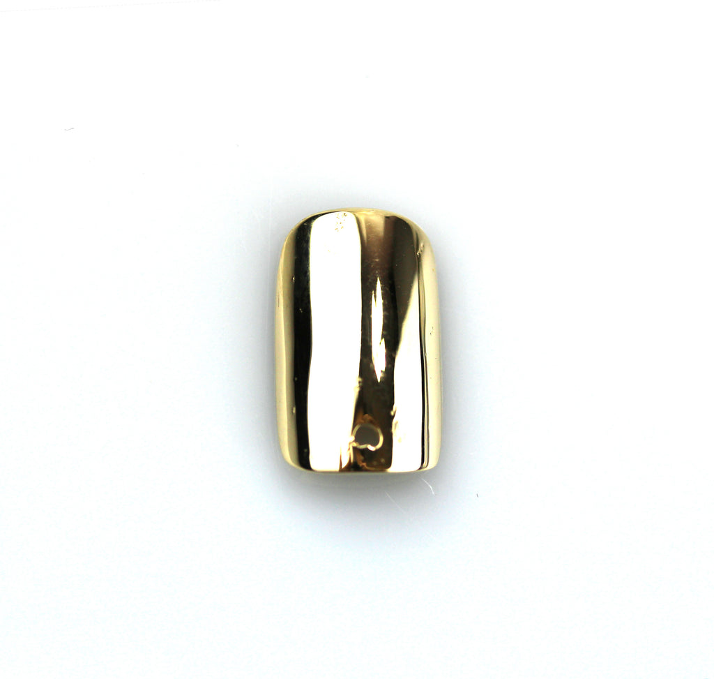 Square Yellow Gold Nail with Hole