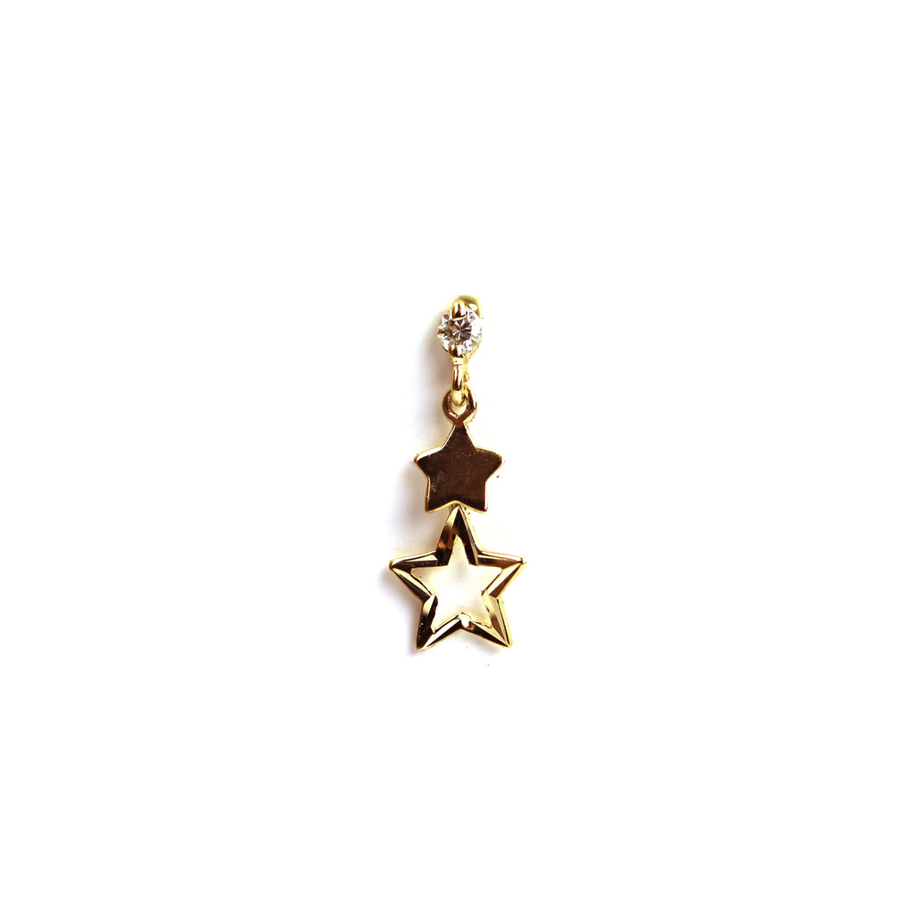 Stacey Diamond Yellow Gold Nail Stud