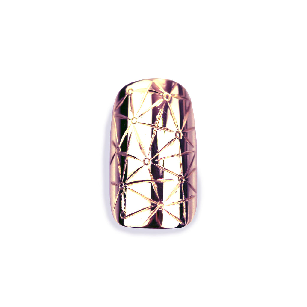 Star Square Rose Gold Nail