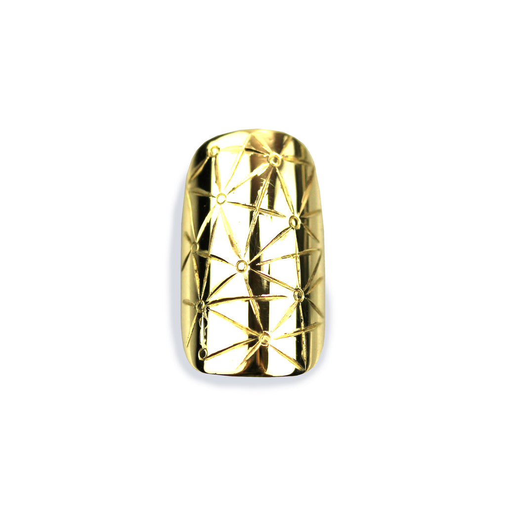 Star Square Yellow Gold Nail