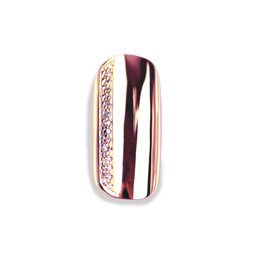 Sybil Round Diamond Rose Gold Nail