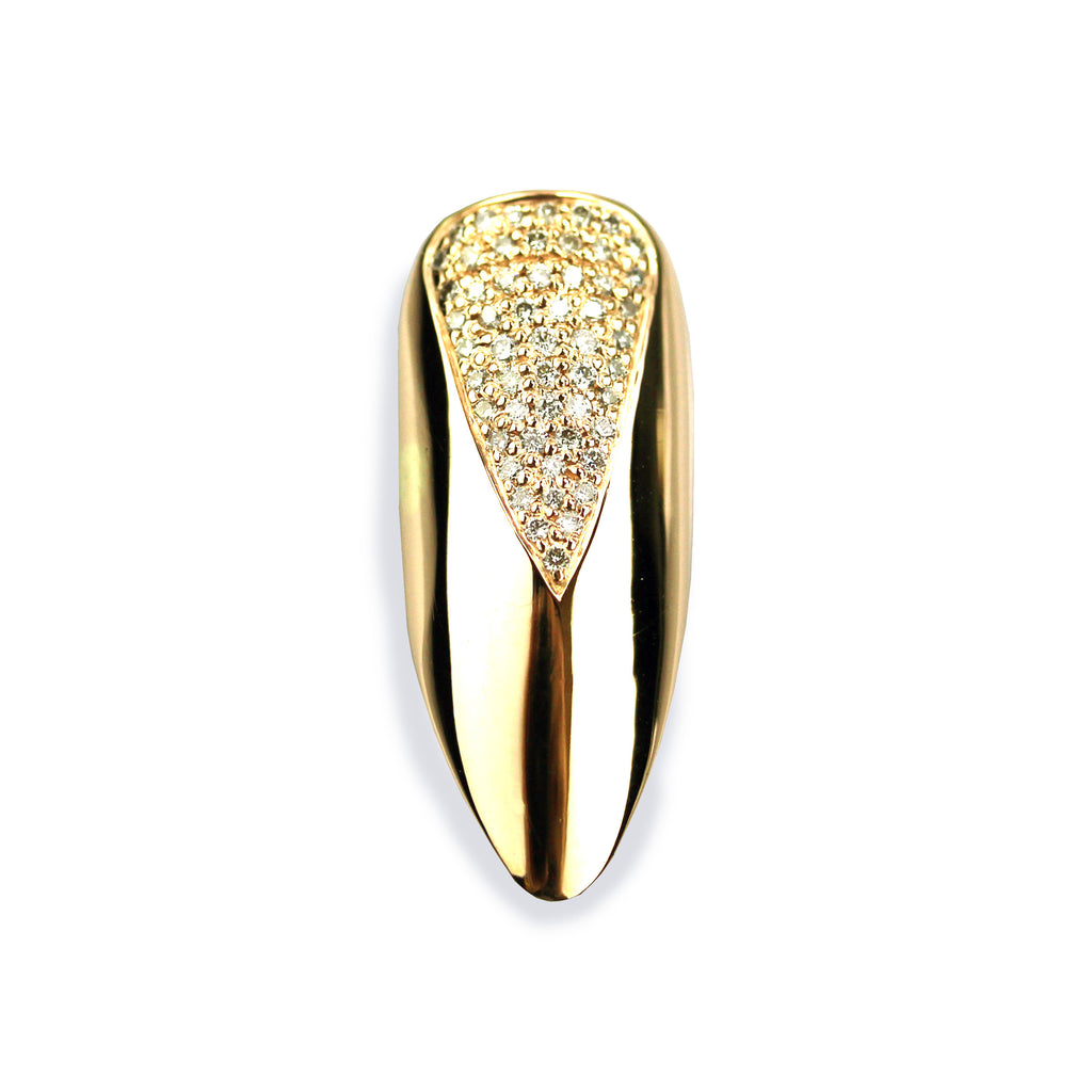 Talia Long pointy Diamond Yellow Gold Nail