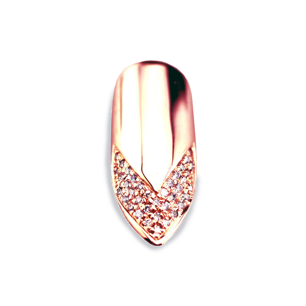 Velma Pointy Diamond Rose Gold Nail