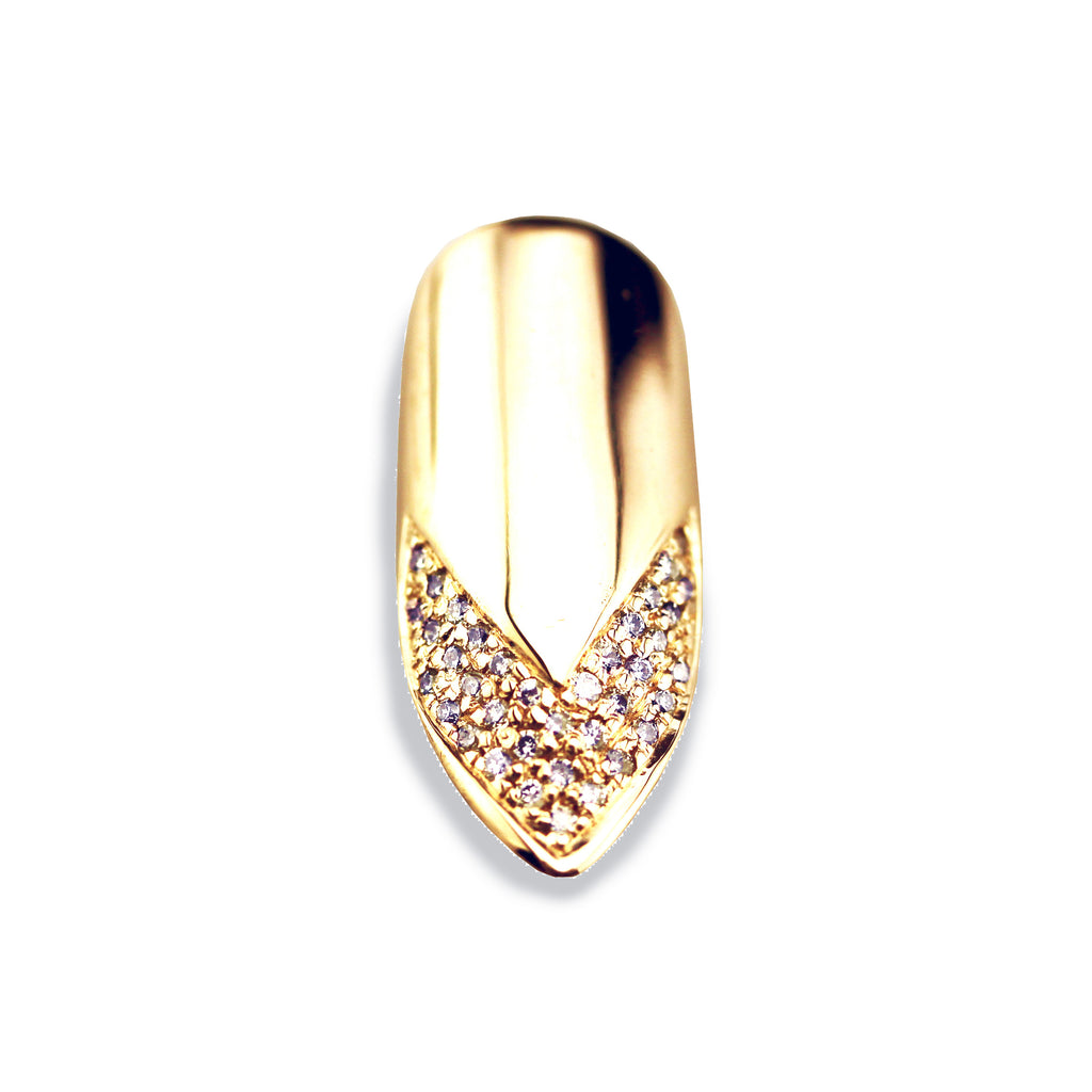 Velma Pointy Diamond Yellow Gold Nail