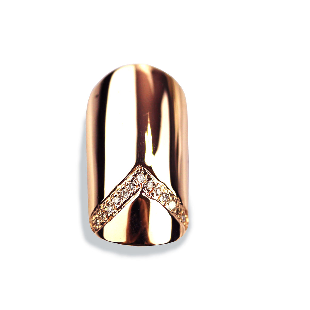 Veronica Round Diamond Rose Gold Nail