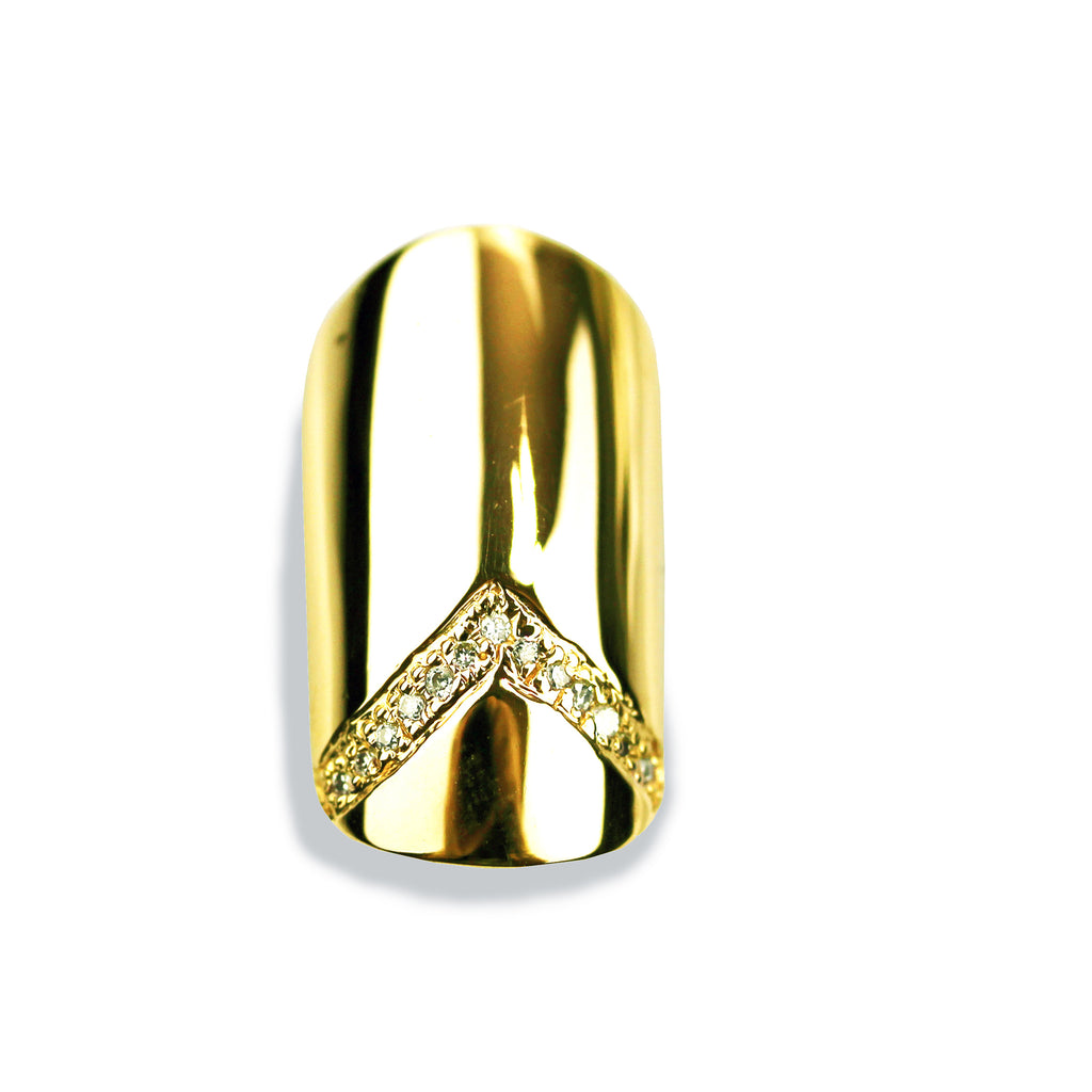Veronica Round Diamond Yellow Gold Nail