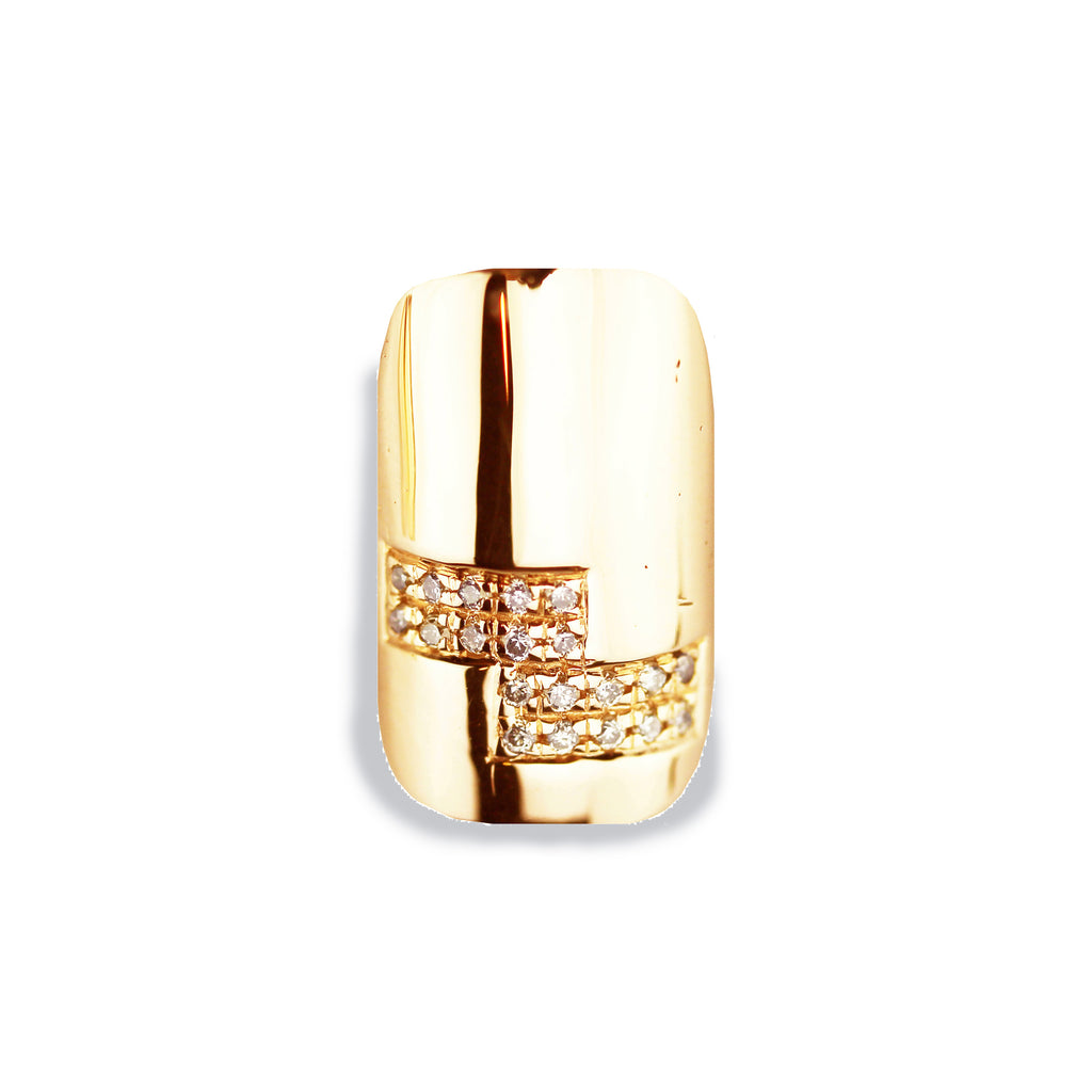 Zoe Square Diamond Yellow Gold Nail