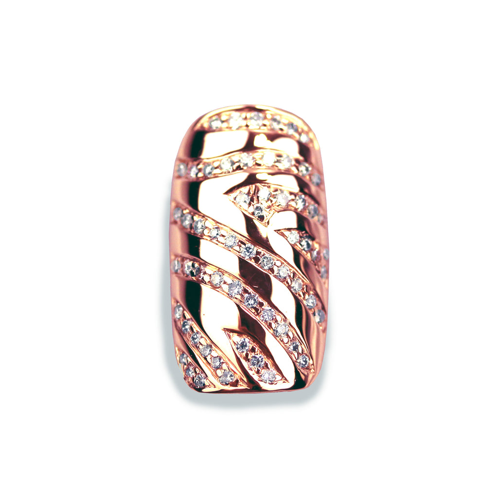 Zuri Square Diamond Rose Gold Nail