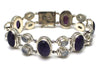Amethyst Rainbow Moonstone Bracelet in Sterling Silver