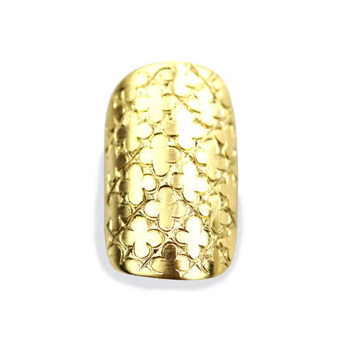 Chloe Sporty Square Yellow Gold Nail