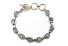 Rainbow Moonstone Cabochon Bracelet in Sterling Silver