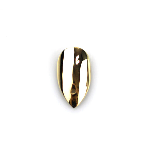 Pointy Yellow Gold Nail with Hole