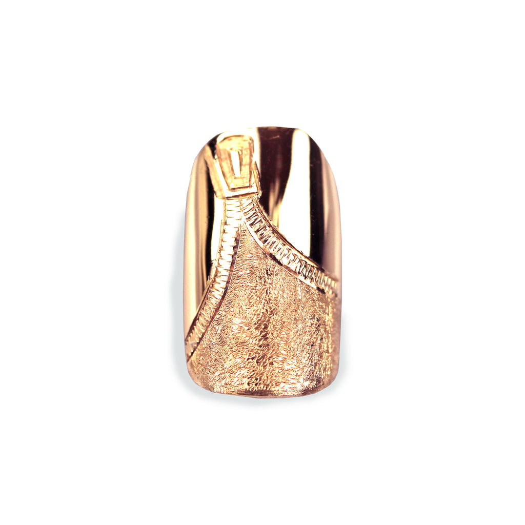 Zeta Square Rose Gold Nail
