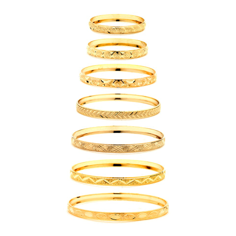 6mm Gold Bangle
