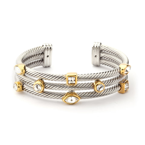 YB05-Designer Inspired Triple-layer Cable Bracelet