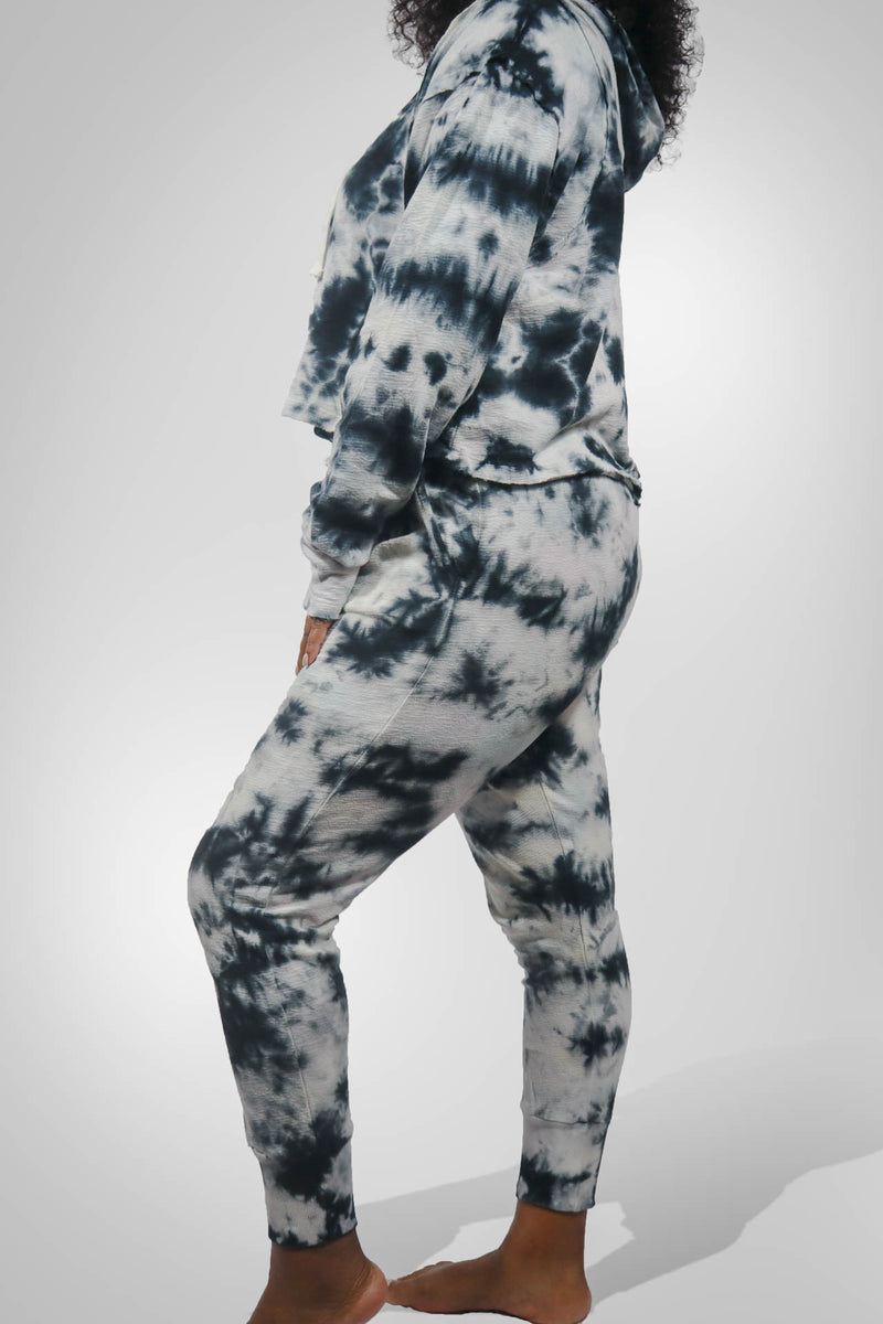 Tie Dye Drawstring Jogger and Hoodie Set