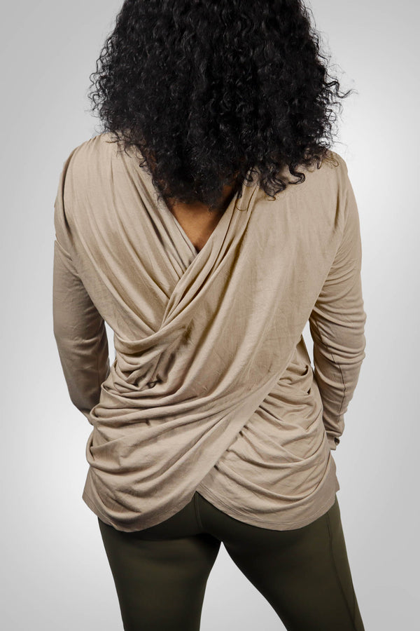 Open Draped Back Top