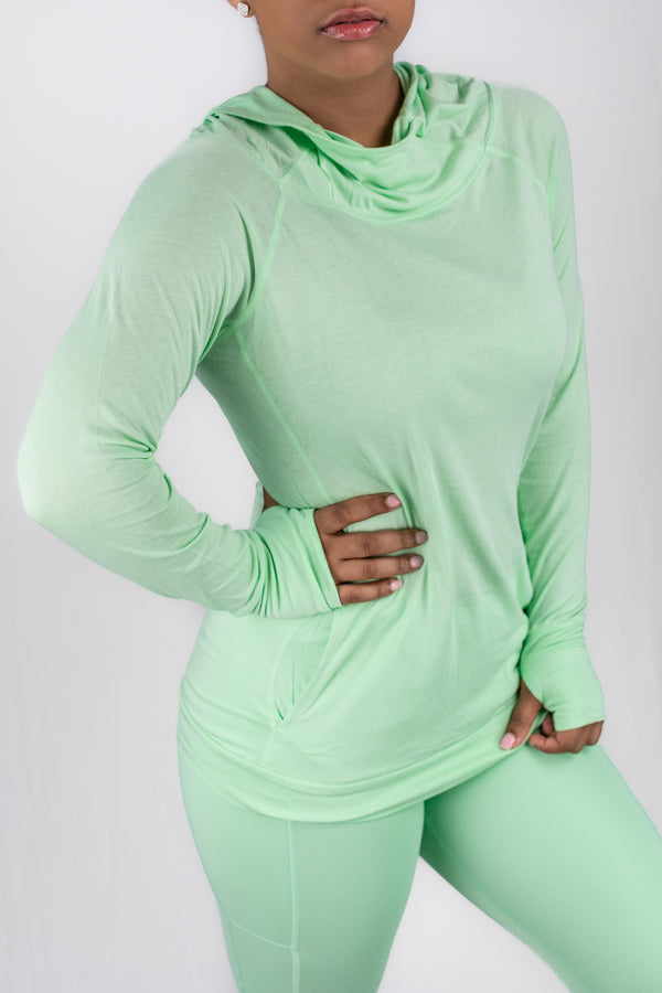 Sleek Hoodie-Long Sleeve Top