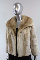 Sheared Beaver With Min Fur Jacket Size S-M
