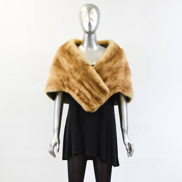 Whisky Mink Fur Stole - One Size Fits All - Pre-Owned