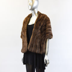 Brown Squirrel Fur Stole - One Size Fits All - Pre-Owned