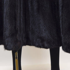 Ranch Mink Fur Full Skin Coat - Size M - Pre-owned