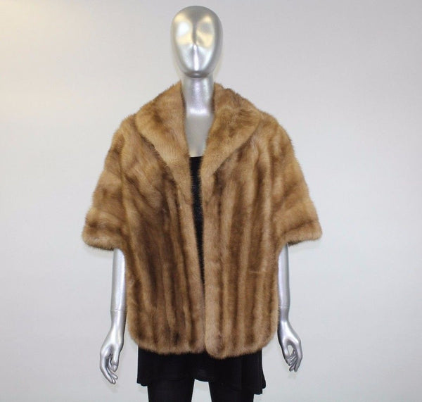Pastel Mink Fur Stole - One Size Fits All - Pre-Owned
