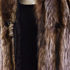 Raccoon Fur Coat - Size M