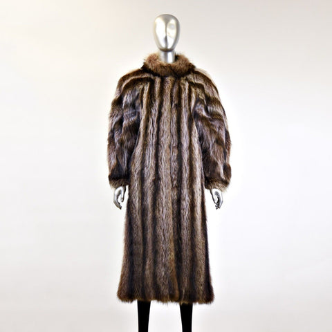 Raccoon Fur Coat - Size M - Pre-Owned