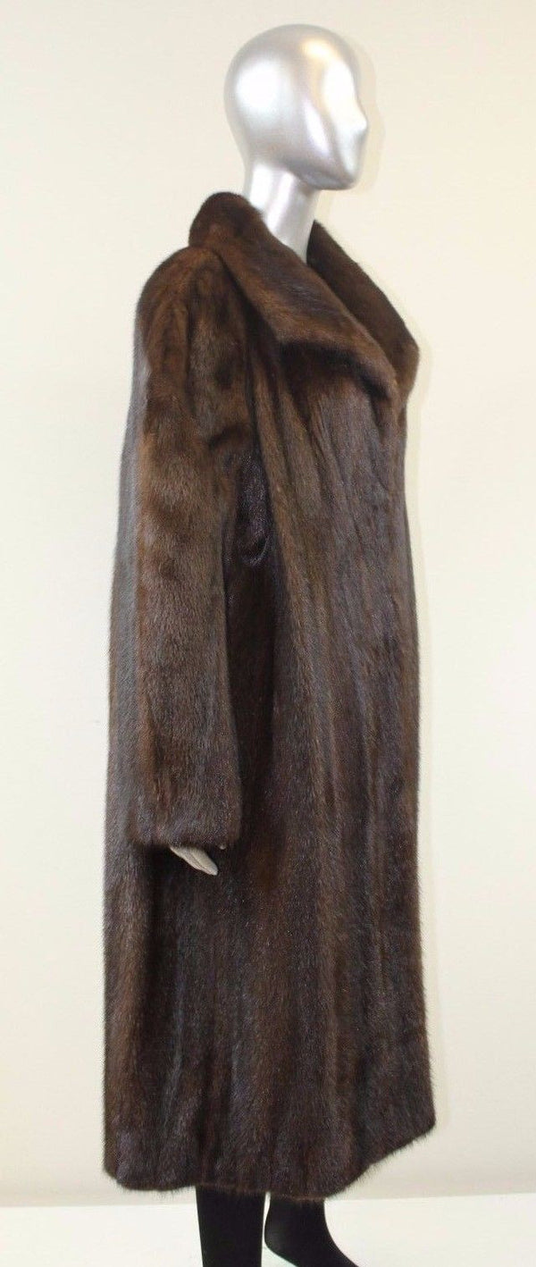 Mahogany Mink Fur Coat XL-XXL
