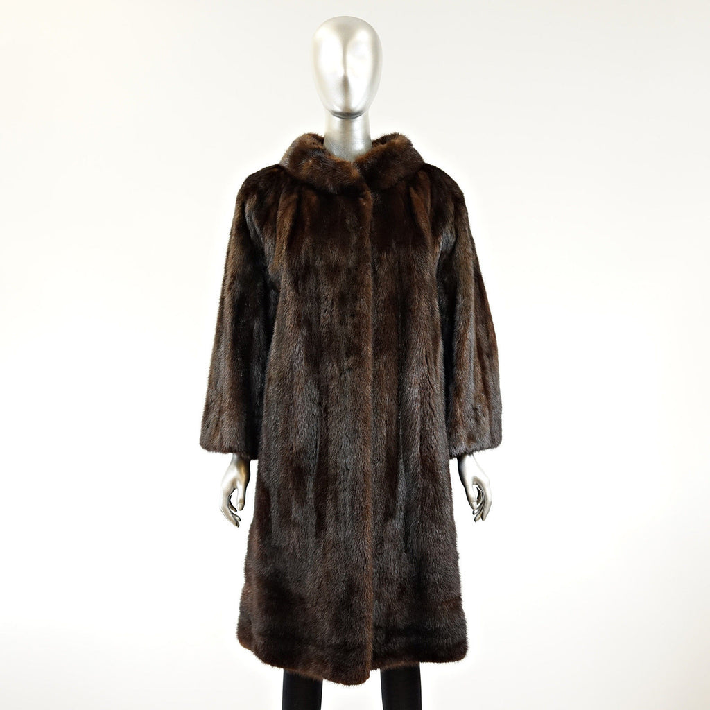 Mahogany Mink  Fur Coat - Size S - Pre-Owned