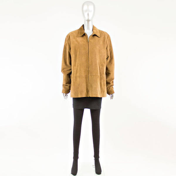 Cinnamon Suede Men's Jacket- Size M
