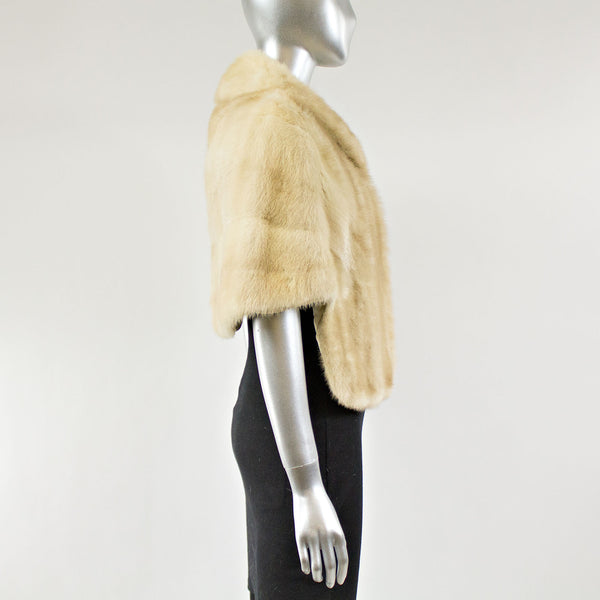 Tourmaline Mink Fur Stole - One Size Fits All