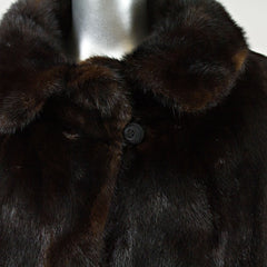 Oxidized Ranch Mink Fur Jacket - Size S