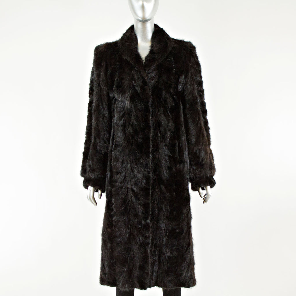 Ranch Mink Tail Fur Coat - Size S