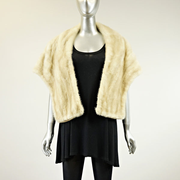 Tourmaline Mink Fur Stole - One Size Fits All - Pre-Owned