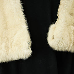 Pale Blue Beige Mink Fur Shawl Large - One Size Fits All - Pre-Owned