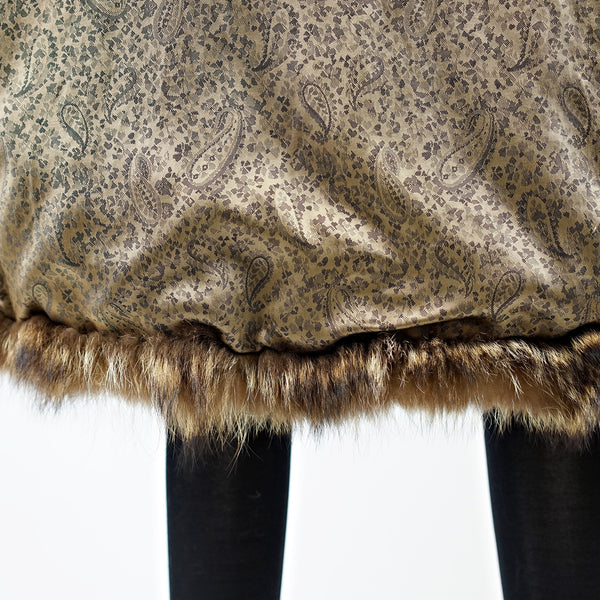 Raccoon Fur Coat - Size S - Pre-Owned
