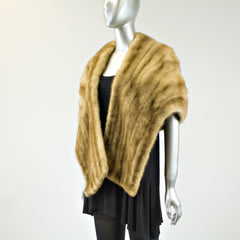 Autumn Haze Mink Fur Stole - One Size Fits All - Pre-Owned