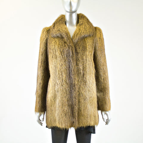 Nutria Fur Jacket - Size S - Pre-Owned